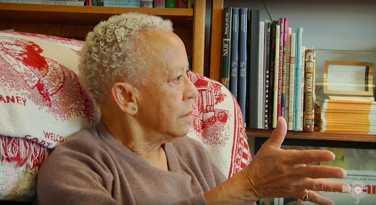 A video still from our interview with Nikki Giovanni.