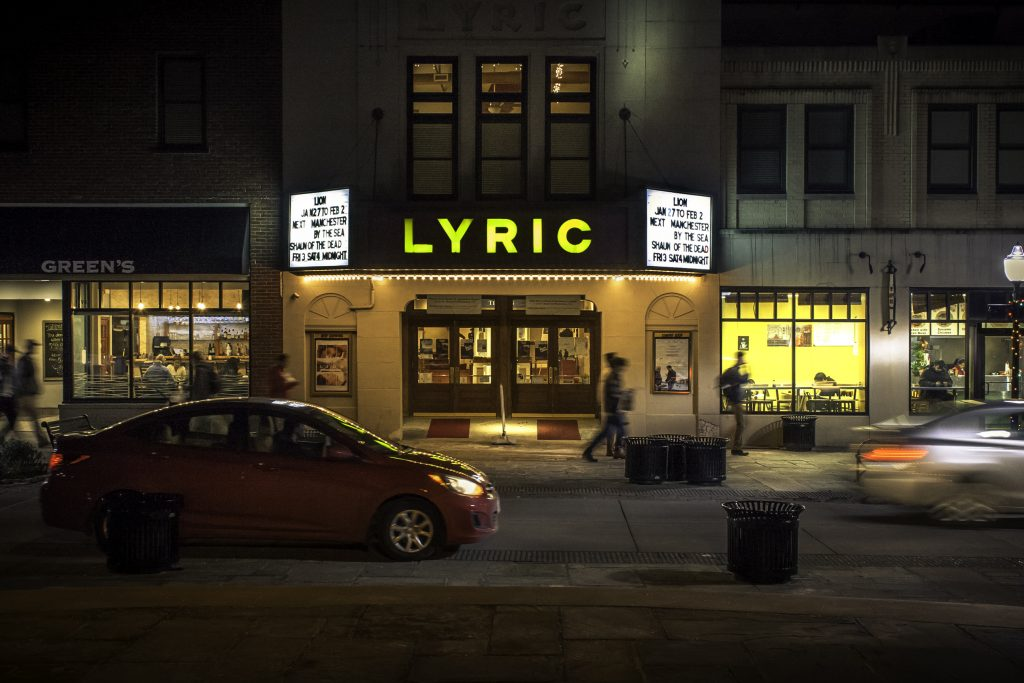 The Lyric Theatre at night